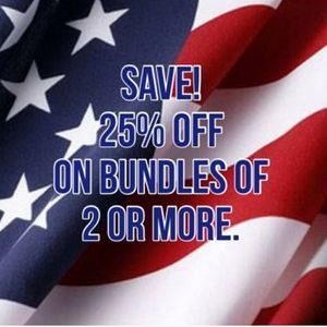 25% off bundles of 2 or more items